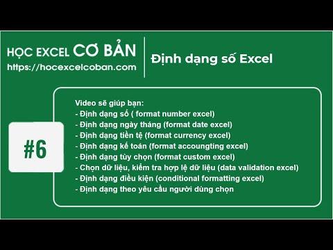 Học Excel cơ bản | #6 Định dạng số Excel