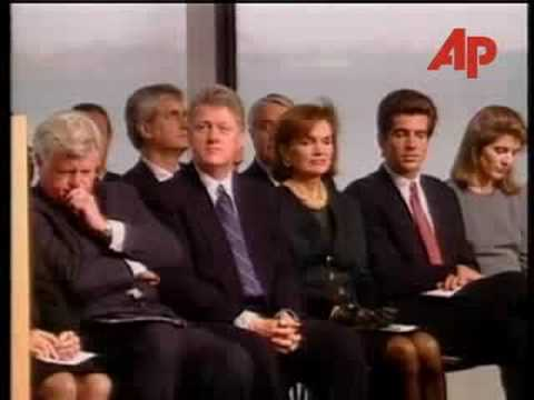 JFK Jr at the rededication of the JFK Library