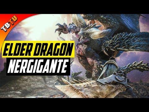 HUNTING THE ELDER DRAGON NERGIGANTE! FIRST 20 Minutes in Monster Hunter: World PS4 Beta