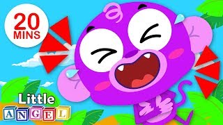 Laughing with Baby Monkey, No No, Apples and Bananas | Kids Songs by Little Angel