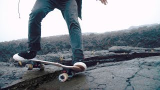 Skateboarding a Lava Field in Kilauea