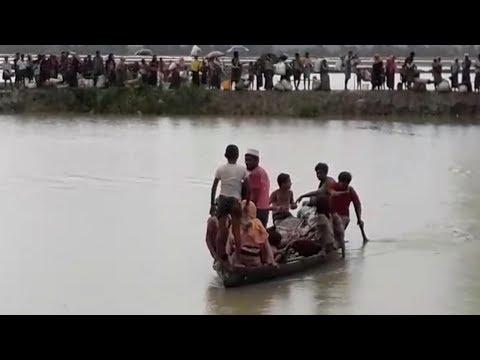 লম্বা বিল এলাকা দিয়ে বাংলাদেশে ঢুকছে রোহিঙ্গারা