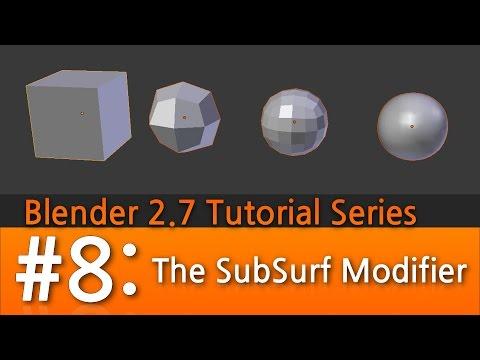 Blender 2.7 Tutorial #8 : Smoothing & SubSurf #b3d