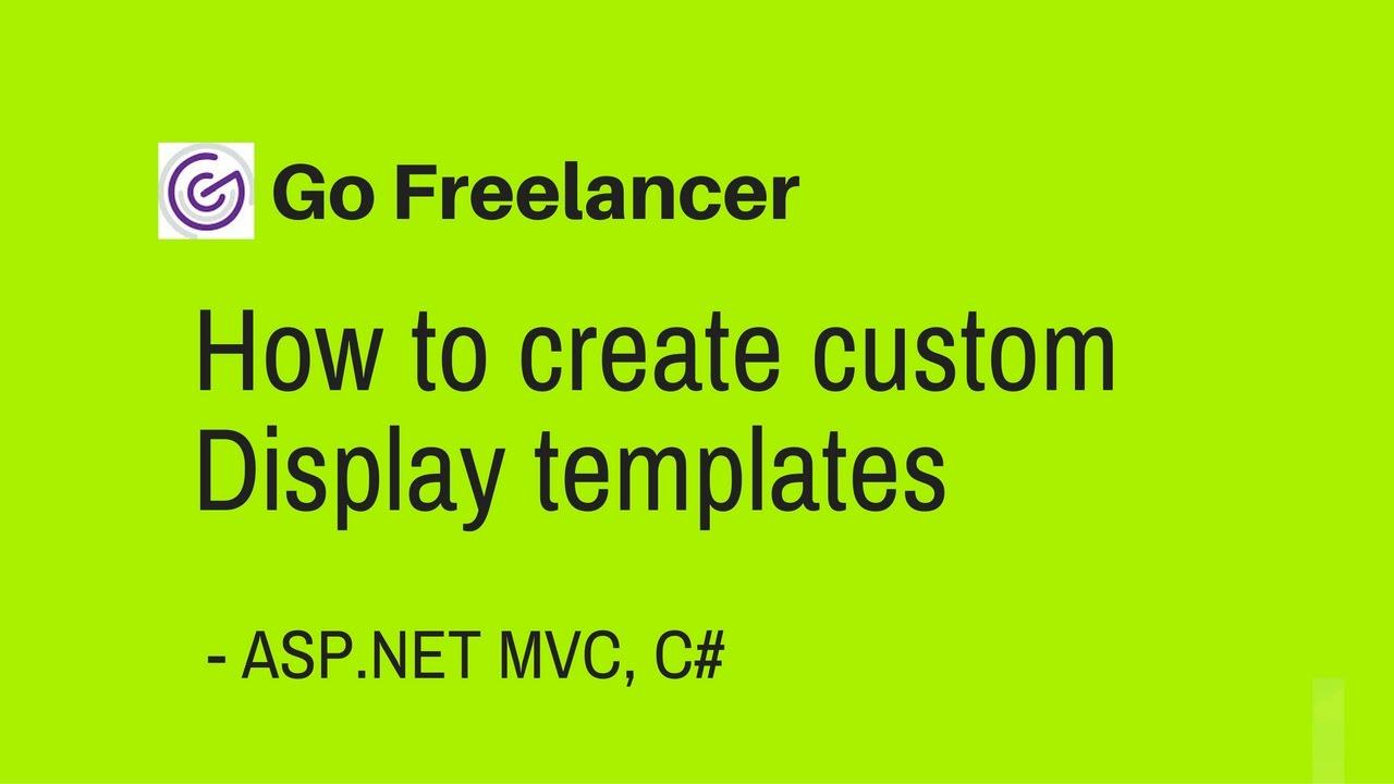 how to create custom Display templates in ASP NET MVC - YouTube