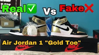 Air Jordan 1 Gold Toe REAL VS FAKE (UA) Comparison (@hey_ozzy on Instagram)