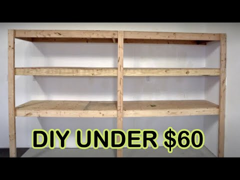HOW TO BUILD GARAGE SHELVES/SHELVING DIY- CHEAP, EASY AND FAST (ORGANIZE GARAGE)