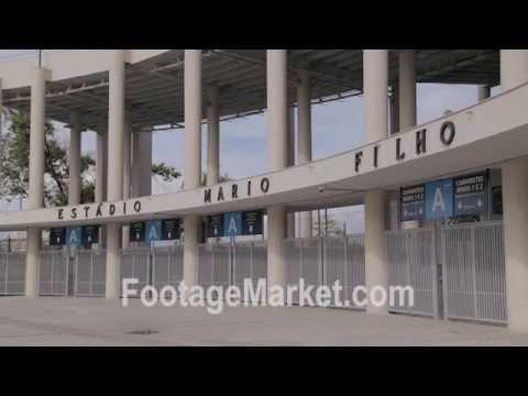 Stock footage of the empty Maracanã Stadium in Rio De Janeiro Brazil
