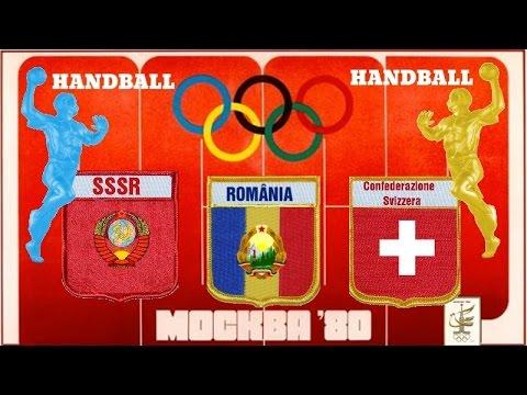 1980 Summer Olympics games Moskwa HANDBALL SSSR ROMÂNIA SWISS ГАНДБОЛ RUKOMET
