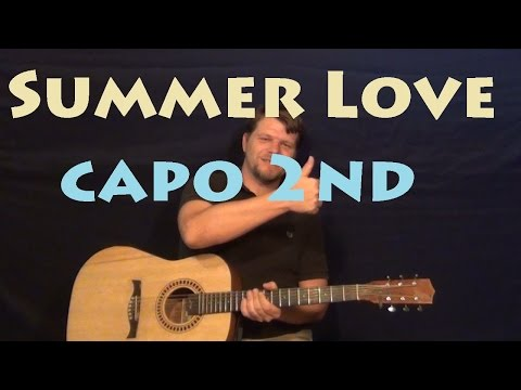 Summer Love (One Direction) Easy Strum Fingerstyle Guitar Lesson How To Play Tutorial
