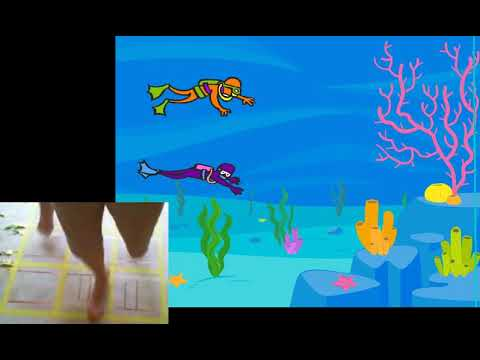 Make a scuba race with a switch jumping game