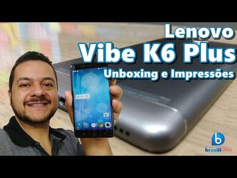 Lenovo Vibe K6 Plus - Bateria enorme e Sensor de Digitais! Unboxing e Impressões