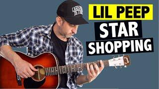 Lil Peep - Star Shopping // Easy Guitar Tutorial + FREE TABS