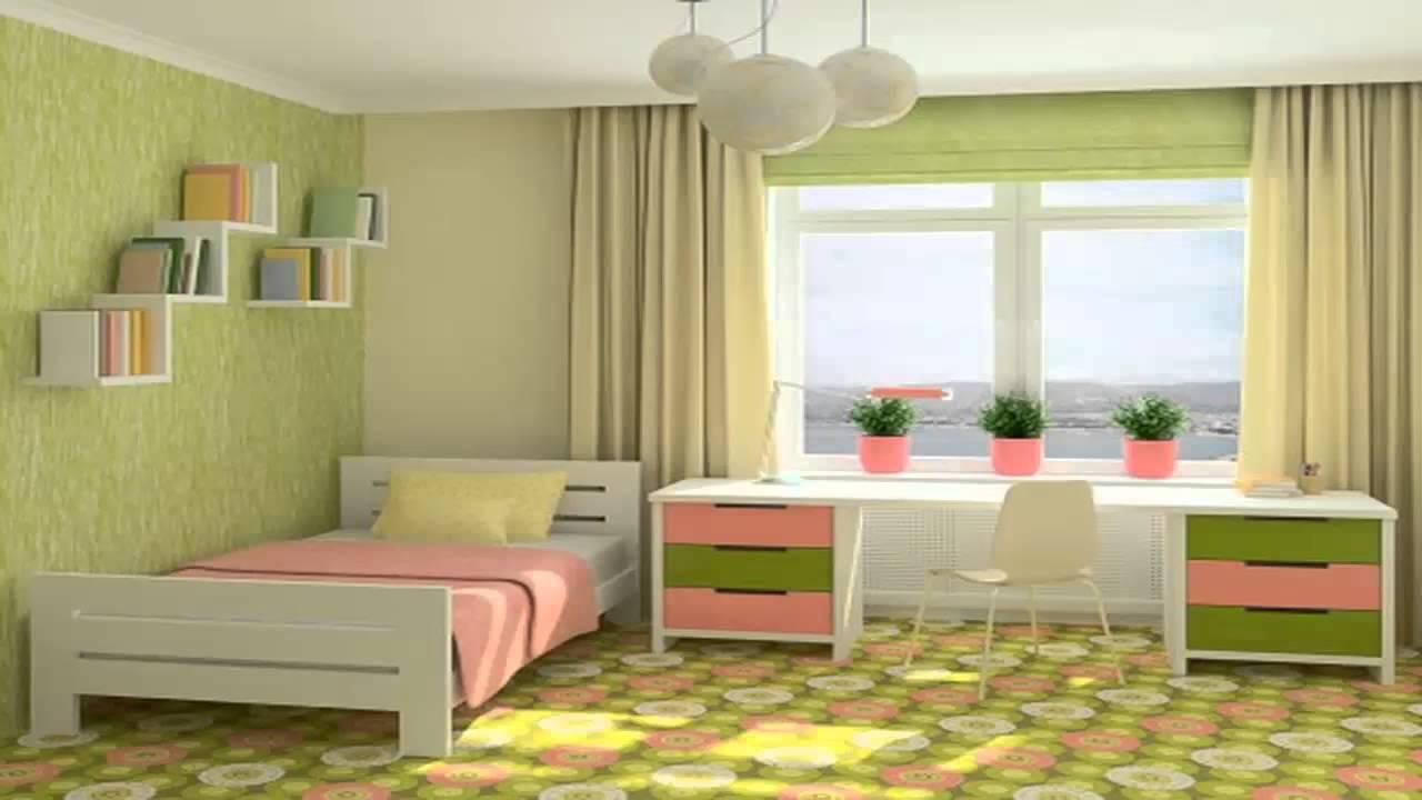 غرف نوم اطفال لونها اخضر       YouTube