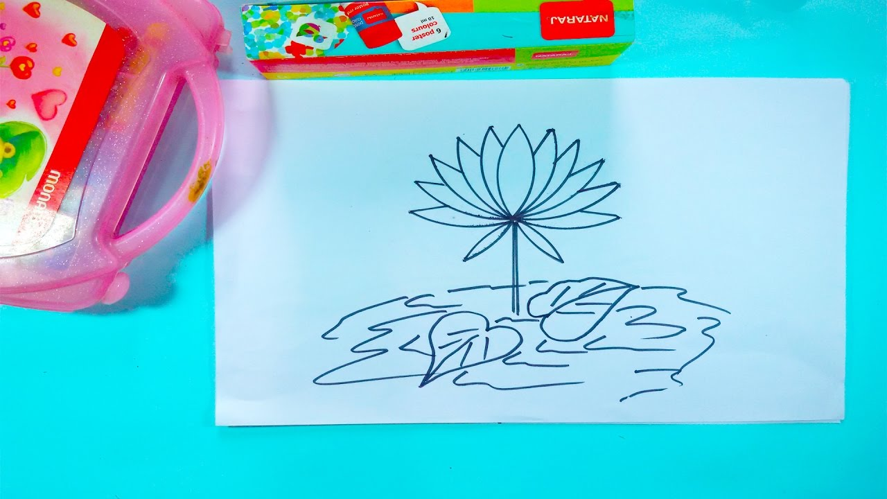 How to draw a water lily step by step drawing a water lily flower how to draw a water lily step by step drawing a water lily flower easy drawing izmirmasajfo