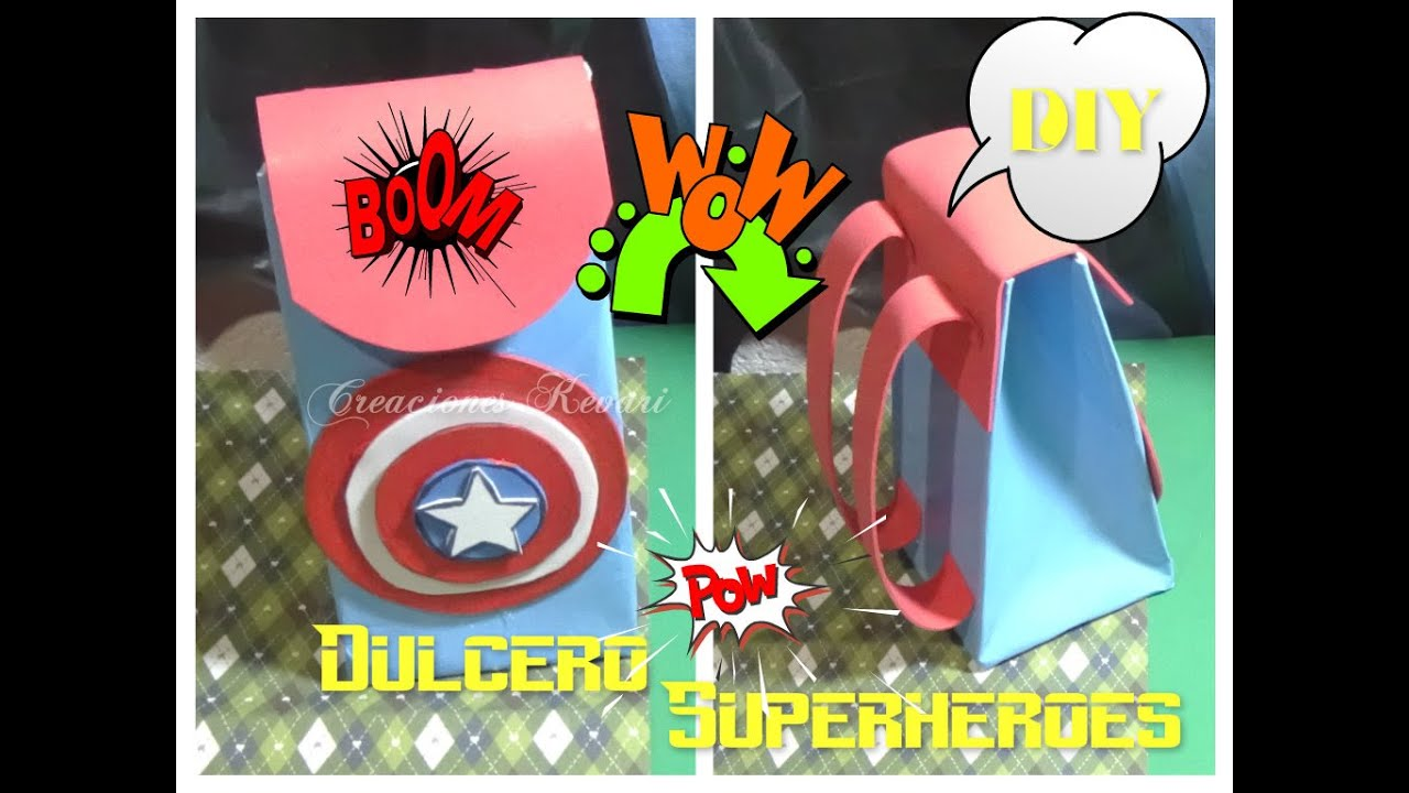 6d7f7a36c Dulcero o Bolsita en forma de mochila SuperHeroes/ DIY Superhero Candy Bag