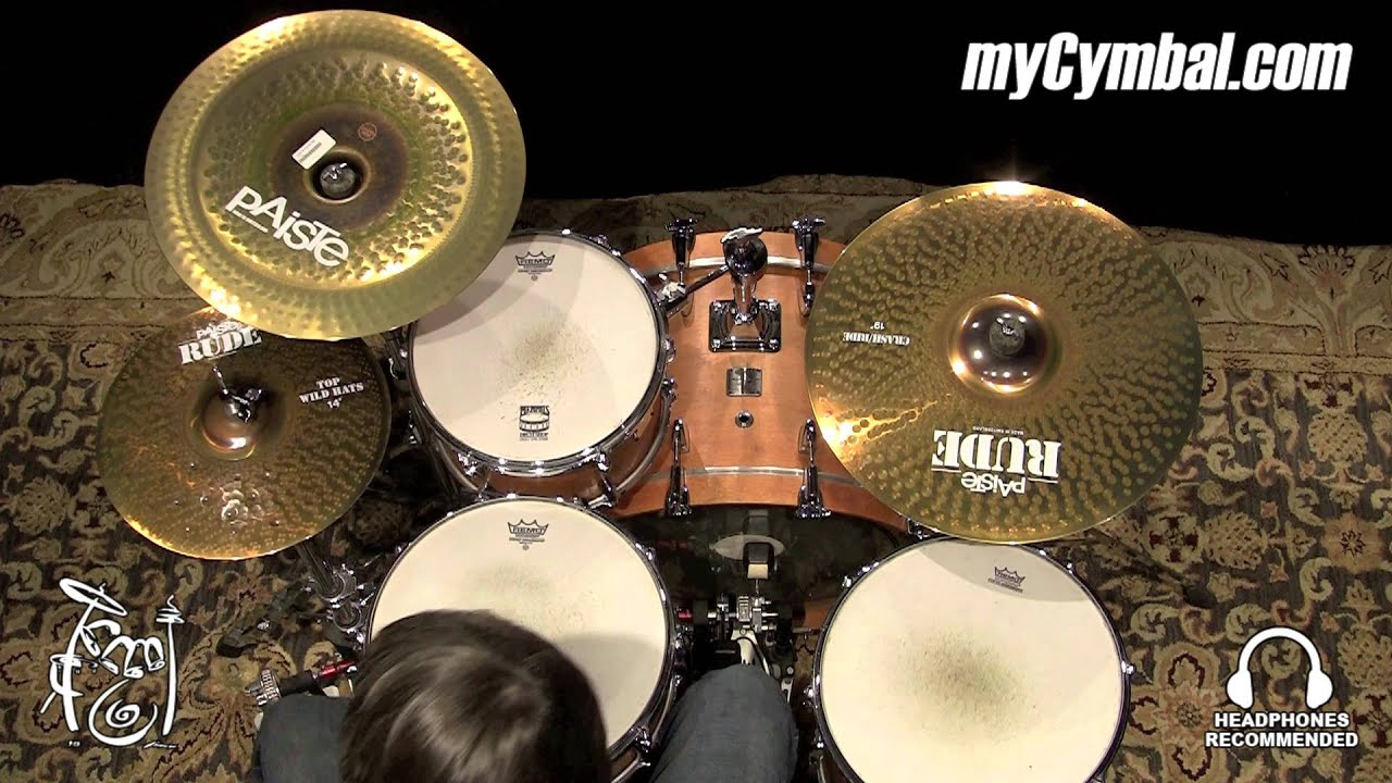 paiste 18 rude china cymbal 1122618 1021015d youtube. Black Bedroom Furniture Sets. Home Design Ideas