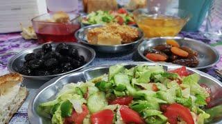 İftar yemeği Gül böreği, Yumurta Tatlısı yoğurt salatası