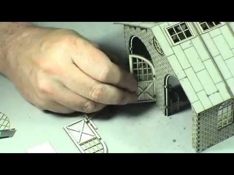 Making of LS-009 Laser-Cut Double Engine Loco Shed