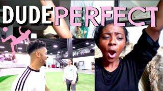 Football vs Soccer Trick shots | Dude Perfect EPIC REACTION