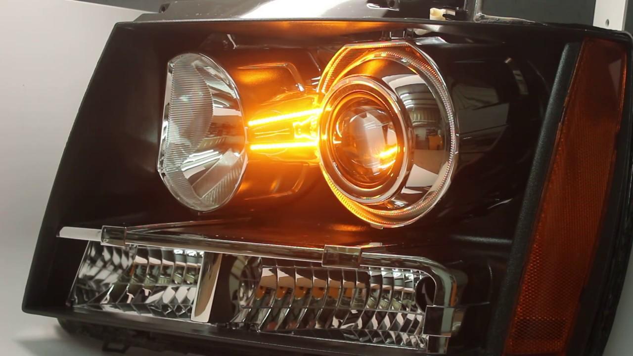 2007 2014 Chevrolet Tahoe Hid Retrofit Kit Headlights Led 2015 Silverado Fog Light Wiring Harness Switchbacks Housing