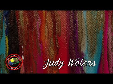 Judy Waters and Acrylic Pours in Art