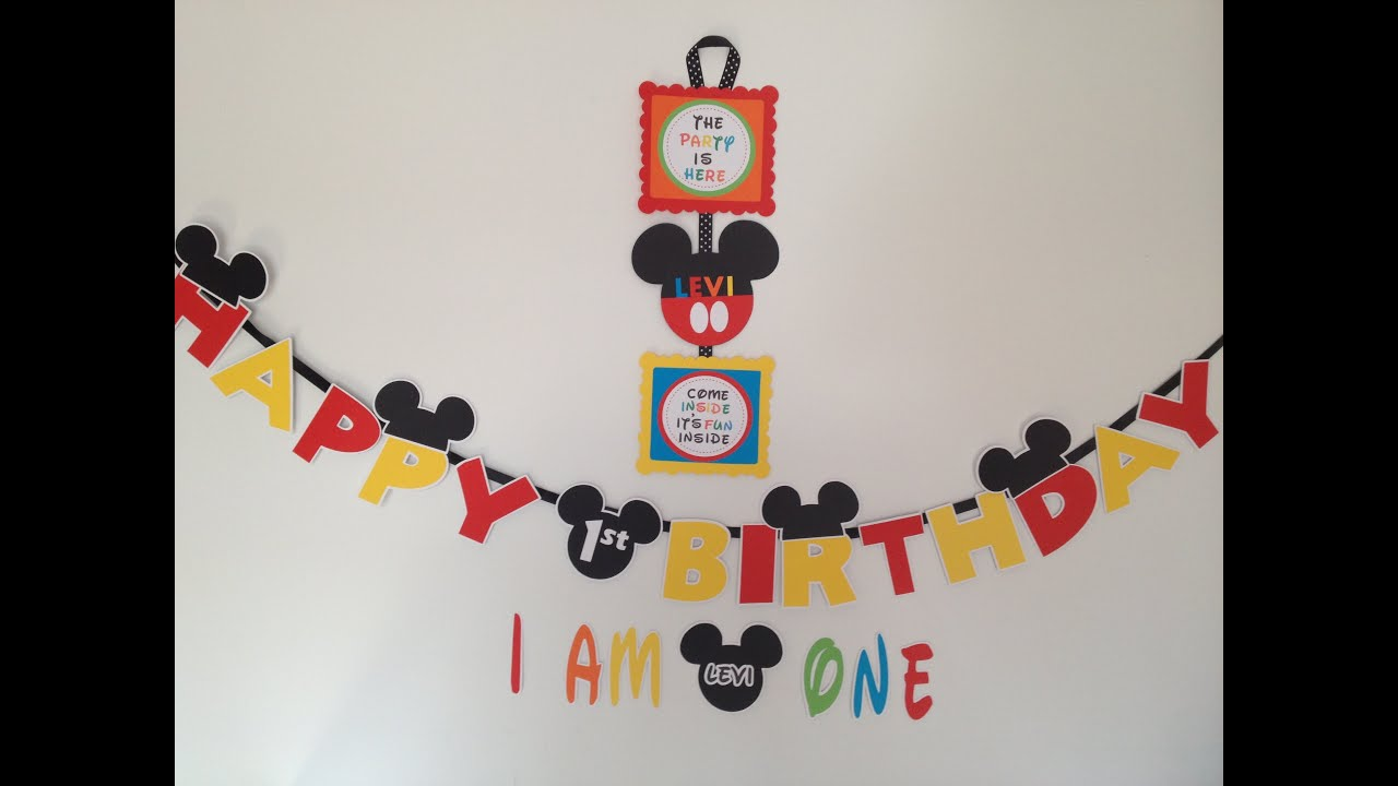 How to make a Mickey Mouse Clubhouse Party Door Sign with printables ...
