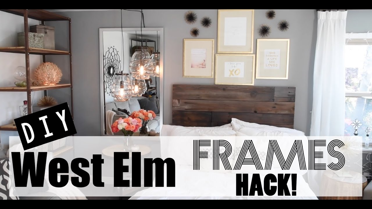 How to diy gold leaf frames west elm hack youtube jeuxipadfo Image collections