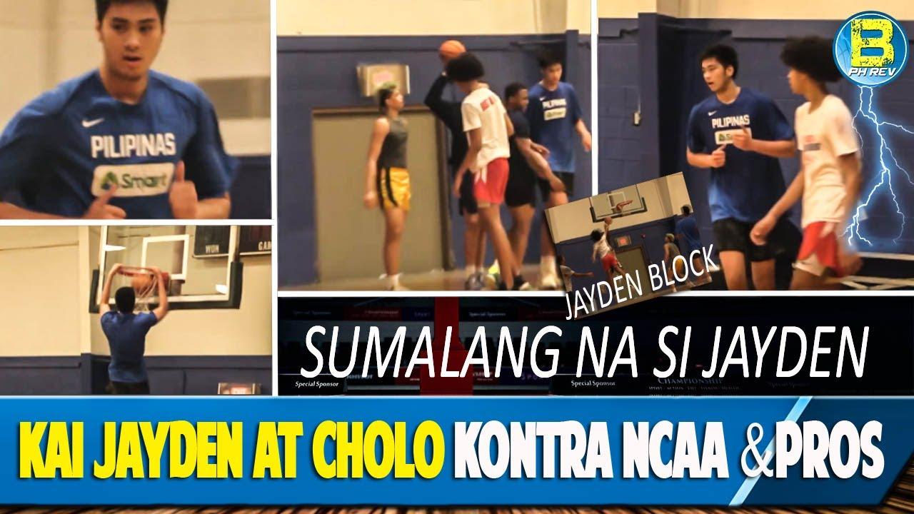 Kai Sotto Jayden Harper at Cholo Anonuevo Game vs PROs