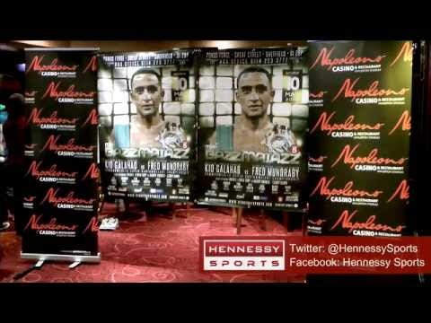 Kid Galahad vs Fred Mundraby official weigh In