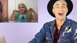 HAIRDRESSER REACTS TO ANOTHER EPIC BLEACH FAIL! (lol never gets old) |bradmondo