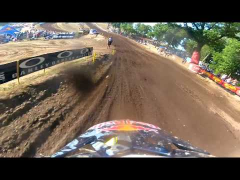 GoPro HD: James Stewart Full Moto 2 Red Bud 2012 Lucas Oil Pro Motocross Championship