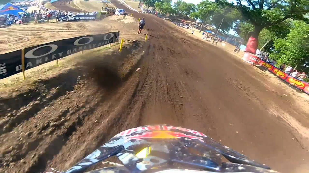 James Stewart Full Moto 2 Red Bud 2012 Lucas Oil Pro Motocross Championship - GoPro HD