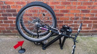 Homemade folding mountain bike conversion
