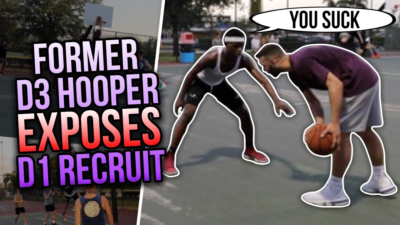 Former D3 Hooper Mic'd Up EXPOSES D1 Recruits At The Park !