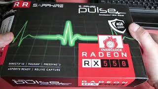 Sapphire Radeon PULSE RX 550 4 Gb - Распаковка,обзор,майнинг !