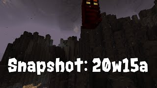 Minecraft 1.16 Snapshot 20w15a : Basalt Deltas, blackstone, and Dispensers