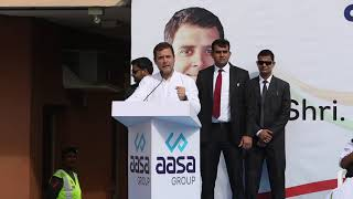 Congress President Rahul Gandhi addresses workers community in Dubai