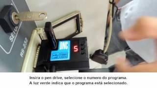 Receber programa no CNC do RGDNC ECO COMANDO SIEMENS