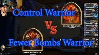 Fewer Bombs Warrior vs Control Warrior | Hearthstone