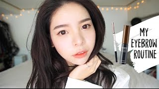 My Updated Brow Routine/ Korean Straight Eyebrow Tutorial (Eng&Bahasa Subs) | Erna Limdaugh