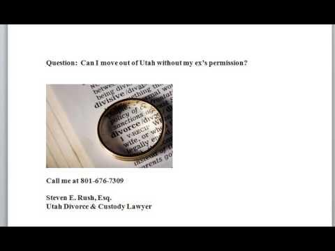 Child Custody Relocation Laws Utah 801-676-7309 UT Code 30-3-37 explained