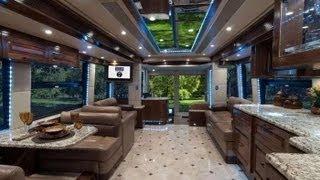Самый дорогой дом на колесах за 2 млн $. The most expensive house on wheels! Cost - $ 2 million)) .(Этот дом, проект американской фирмы Outlaw Coach, созданный на базе автобуса Prevost H3-45 и носящий название «The Oasis»...., 2013-08-31T22:04:46.000Z)