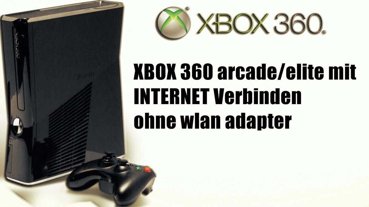 xbox 360 arcade elite mit internet verbinden ohne wlan. Black Bedroom Furniture Sets. Home Design Ideas