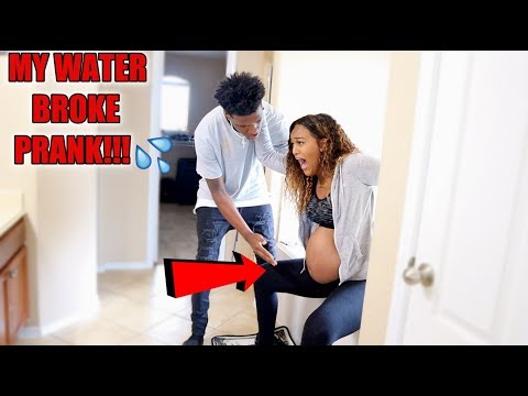 MY W.A.T.E.R BROKE PRANK ON BOYFRIEND!!!