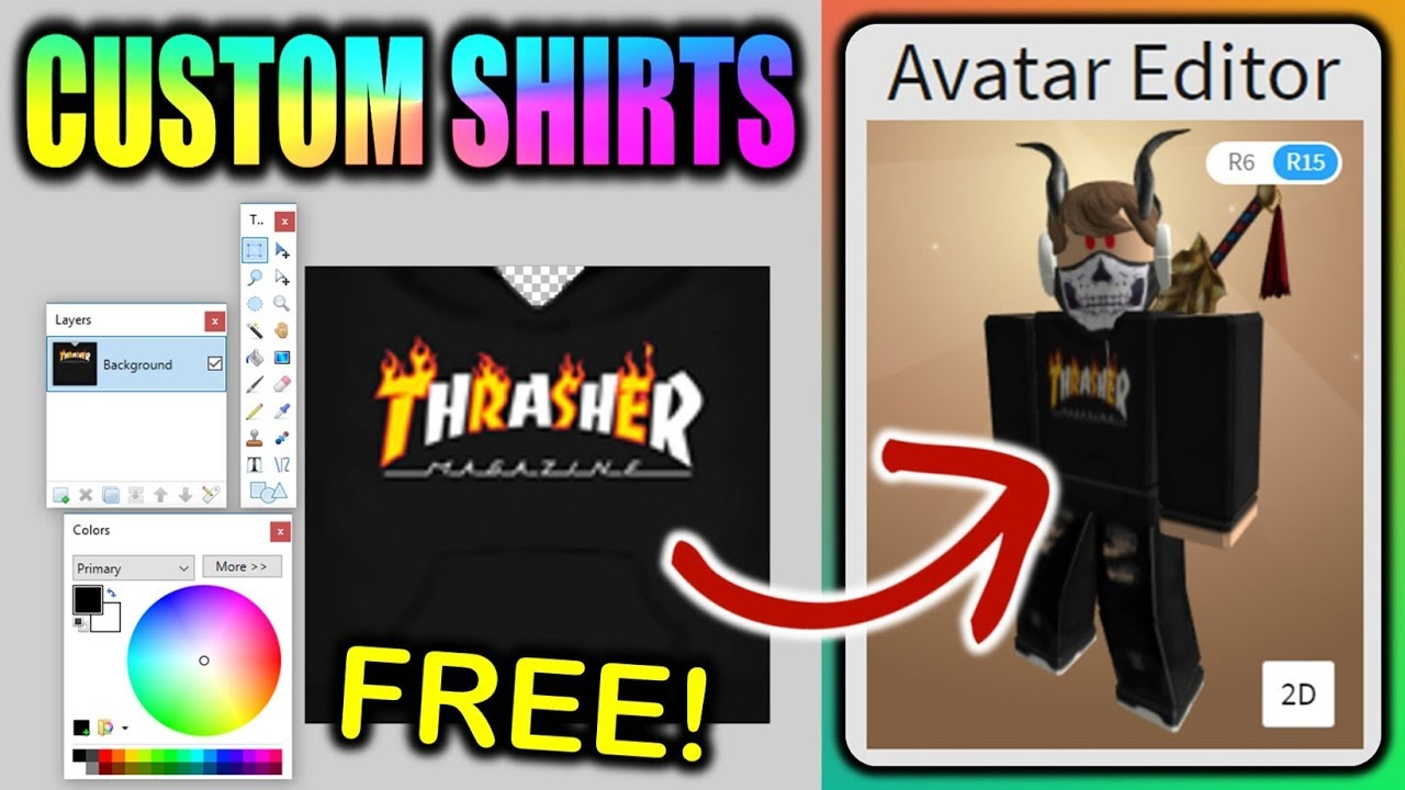 Make Your Own Custom Roblox Shirts Free Boys Girls Youtube