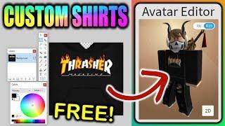 Make Your Own Custom ROBLOX Shirts FREE!!! (Boys & Girls)