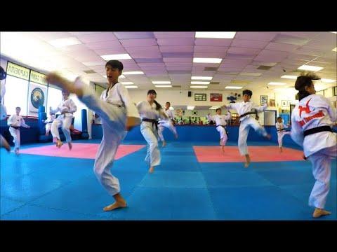 TaeKwonDO Kids TimeLapse Belt Test at Lima Academy Torrance California USA