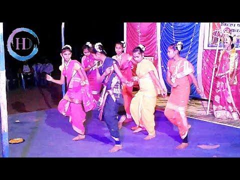 Aadiwasi School Girls Dance | Dahanu Che Ra Dongarala Song At Karajgaon, Ak Aadivasi Village.