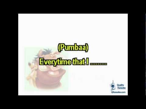 Hakuna Matata (Karaoke Instrumental) w/ Lyrics