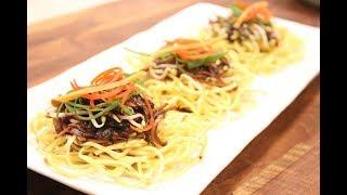 Cantonese  Style Pan Fried Noodles | Chinese Recipes | Sanjeev Kapoor Khazana